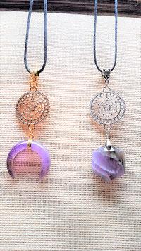 collier mandalla / merkaba pierre mineraux