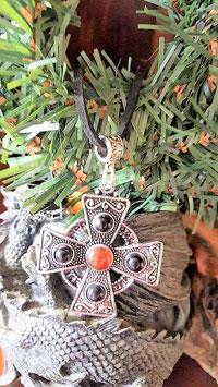 collier pententif pentacle ambre onyx