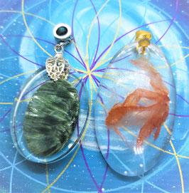 créations pendentif orgonite minéraux 2éme série