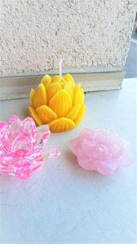 bougie zen fleur de lotus