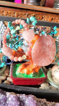 parure quartz cerise fraise