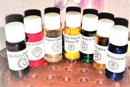 huiles des 7 chakras