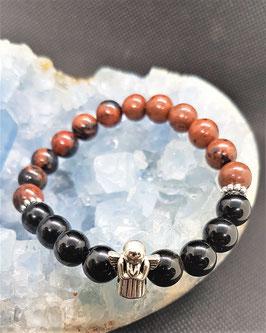 bracelet obsidienne accajou obsidienne noire