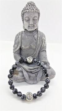 bracelet obsidienne neige 3M