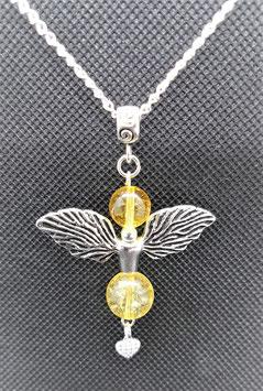 pendentif aile d'ange citrine