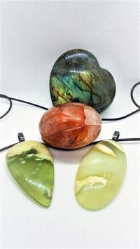 pierre prehnite bracelet pendentif