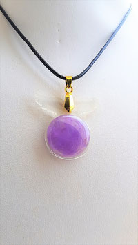 collier aile d'ange resine