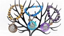 ensemble donus fleur de vie bracelet arbre de vie