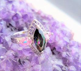 bague argent 925 pierre amethyste quartz rose