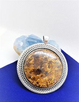 pendentif bronzite pierre 3,5 cm