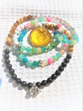 bracelet mala agate oeil de tigre shungite