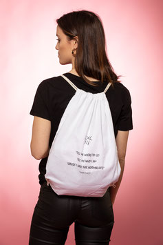 THIRTY-THR33    ::   GYM-BAG   (COTTON)    WHITE