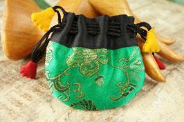 mini Brokat-Beutel grün