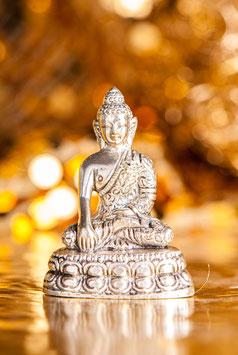 Shakyamuni Buddha, versilbert - Messing  FI-299