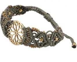 Goa Armband -Mandala / taupe