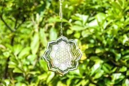 Blume des Lebens Lotus Mobile aus Edelstahl, ø 15 cm