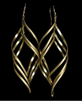 vergoldete Silber Ohrhänger Spirale MAV-323 g