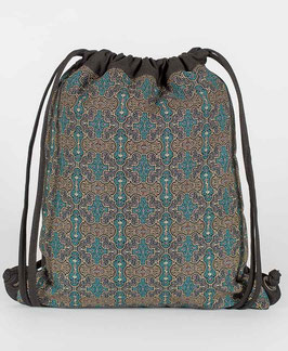 Seed of Life Shipibo Kené  Drawstring Backpack
