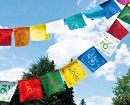 Tibetische Gebetsfahnen mit 8 Glücksymbolen