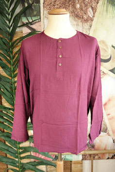 Cotton Shirt mit Coconut Shell Button CSC-04
