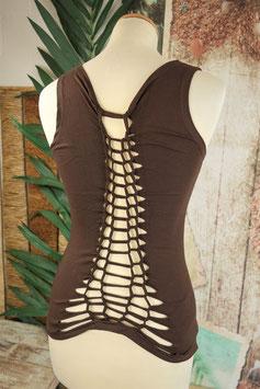 Festival Pixi Top mit rafiniertem Rückenauschnitt brown
