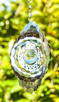 Kronenchakra Mobile 15,3 cmEdelstahl, mit Glaskugel