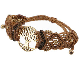 Goa Armband - Tree of Life / Camel Braun