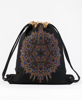 Seed of Life Mexica Drawstring Backpack
