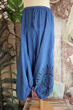 Uni Low Cut Hose mit Mandala Blau GU-30633 b