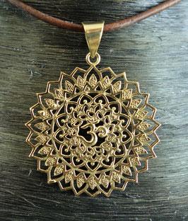 Messing Amulett Mandala OM GU-40198 b