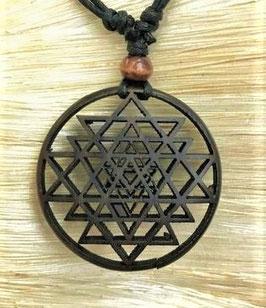 Chakra Halskette  aus Holz - Yantra GU-47009 b