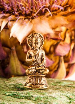 Segnender Buddha Miniaturfigur, Messing -  FI-307