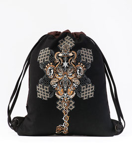 Seed of Life OM on Key Drawstring Backpack
