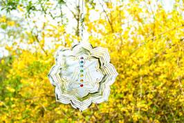 Chakra Lotus Mobile Ø 25 cmaus Edelstahl mit 7 Chakra-Glaskugeln