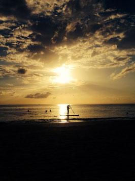 Karibik Paddel Sunset