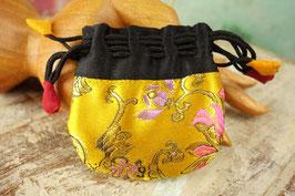 mini Brokat-Beutel gold-gelb