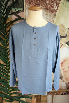 Cotton Shirt mit Coconut Shell Button CSC-03