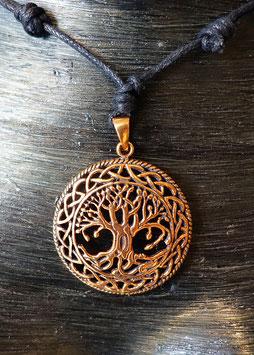 keltischer Lebensbaum Bronze Schmuck Anhänger SBN-020