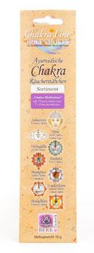 Chakren- Meditations Räucherstäbli im Set: 2 Räucherstäbchen à 7 Sorten