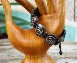 Buddhistisches Armband OM - schwarz  GU-1502.02 b