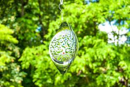 Yggdrasil - Weltenbaum Mobile Ø 25 cm aus Edelstahl mit Kristallen
