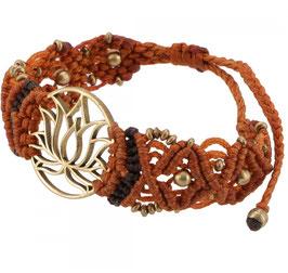 Goa Armband -Lotus / rost