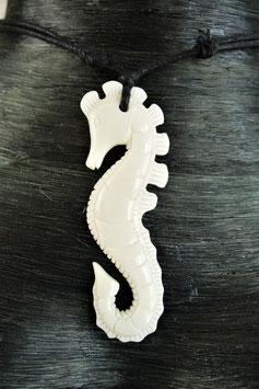 Seepferdchen Schmuck aus Knochen Kette Dra-106.2