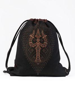 Seed of Life Trishula Drawstring Backpack