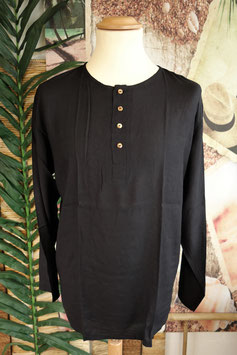 Cotton Shirt mit Coconut Shell Button CSC-02