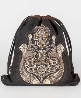Seed of Life Hamsa Drawstring Backpack