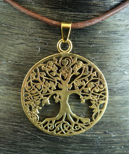 Messing Amulett Baum des Lebens  GU-35971 c