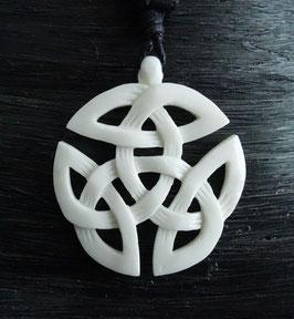offene Dreifalt keltischer Schmuck aus Knochen DRA-015k