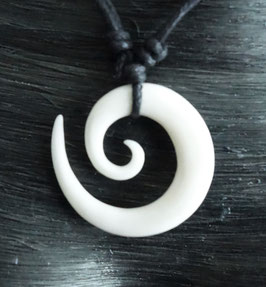 Spirale Maori Schmuck aus knochen Kettenanhänger DRA-023