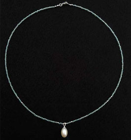 Aquamarin Collier Perle